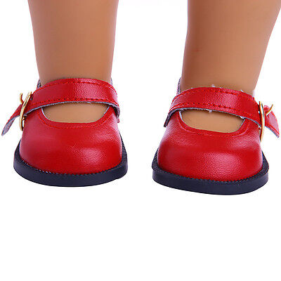 Red leather shoes for 18inch American girl doll party m152