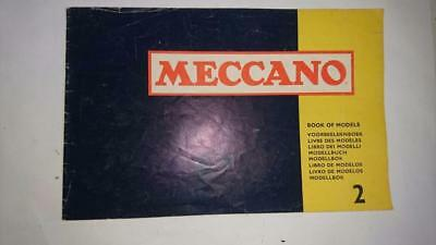 Meccano Book of Models 2   1970's Printed in England
