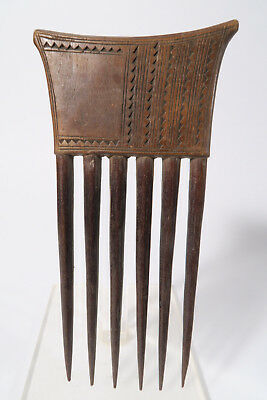 Alter Kamm Baule 17cm C Used old comb Baoule peigne Afrozip