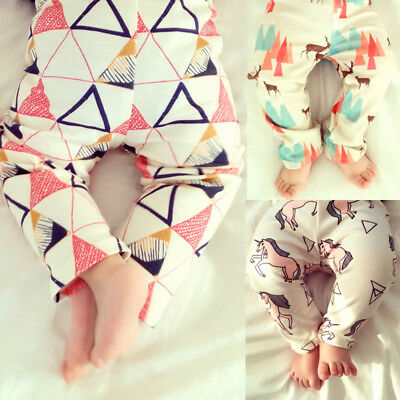 Infant Baby Boy Girl Soft Harem Pants Cartoon Bottoms Pants Leggings Trousers