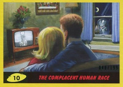 Mars Attacks The Revenge Yellow [199] Base Card #10 The Complacent Human Race