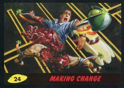 Mars Attacks The Revenge Black [55] Base Card #24 Making Change