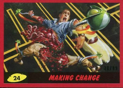 Mars Attacks The Revenge Red [99] Base Card #24 Making Change