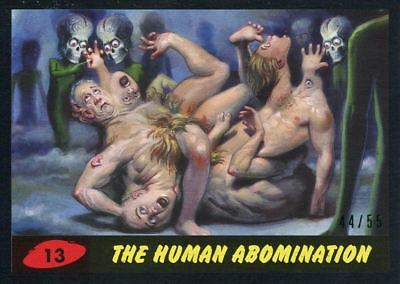 Mars Attacks The Revenge Black [55] Base Card #13 The Human Abomination