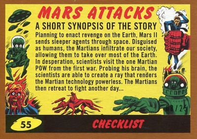 Mars Attacks The Revenge Bronze [25] Base Card #55 Checklist