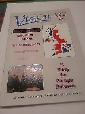 Eurovision Vision Ogae Uk Fan Club Magazine October 1999 Bucks Fizz