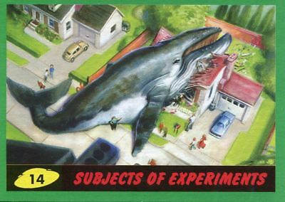 Mars Attacks The Revenge Green Base Card #14 Subjects of Experiments