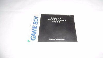 Nintendo Game Boy Console : Instruction Manual (Booklet) Only