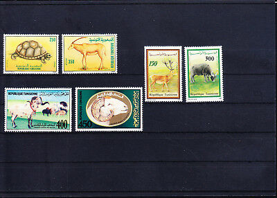 054613 Tiere Animals Tunis Stamps Briefmarken ** MNH - Lot
