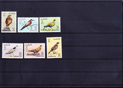 054616 Vögel Birds Libya 178-83 ** MNH Year 1965