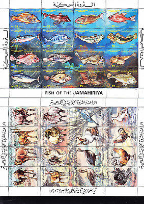 054623 Fische Fish ... Libya 1093-1108 + 1138-53 ** MNH Year 1983