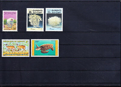 054632 Tiere Animals Djibouti Stamps Briefmarken ** MNH - Lot