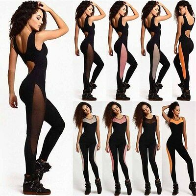 Women Sexy Sport YOGA Workout Gym Fitness Athletic Cloth Leggings Pant Jumpsuit