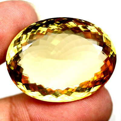 68.72 Ct Aaa! Natural! Golden Yellow Brazilian Citrine Oval