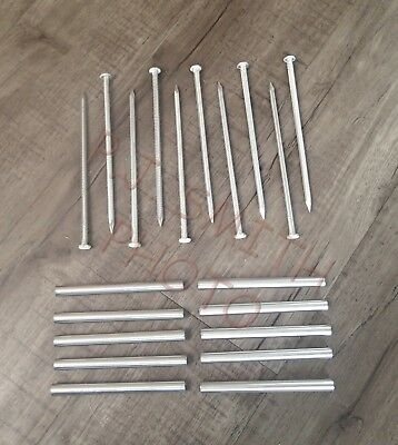 "Gutter Nails & Ferrules 8"" Aluminum for [6""] K Gutter  Made in USA  [Qty. of 10]"