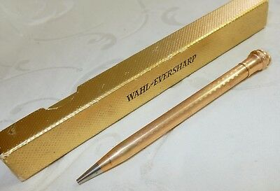 VINTAGE WAHL EVERSHARP PROPELLING PENCIL GOLD FILLED USA 95 mm SUPER BOXED