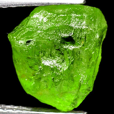 IF HIGH QUALITY 4.55ct 100%NATURAL UNHEATED GREEN PERIDOT ROUGH FACET NR!