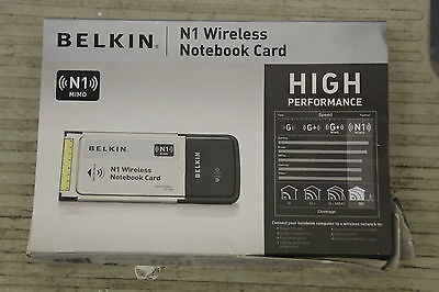 *** Boxed Belkin N1 Mimo Wireless Notebook Card ***