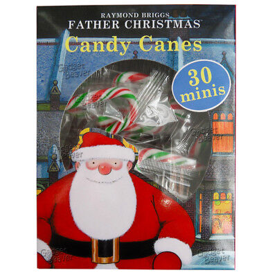 30 Candy Canes, Raymond Briggs Father Christmas, Xmas Individually Wrapped