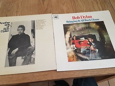 2x Bob Dylan LPs.  bringing it all back home . Another side bob dylan