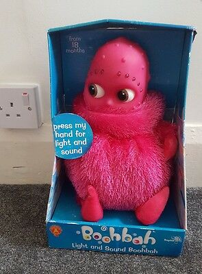 boohbah toy light and sound pink new golden bear