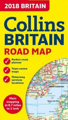 2018 Collins Map of Britain by Collins Maps 9780008214586