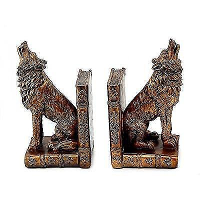 Replica Antiques ART Deco French Bronze Howling Wolf Book Ends Bookends