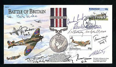 Battle of Britain Signed Cover  8 Battle of Britain Pilots   (O1030)