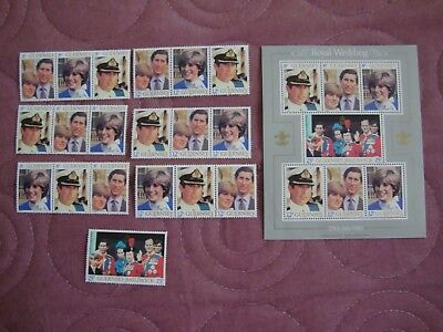 Royal Wedding 1981 Charles & Diana Guernsey tryptych stamps, Miniature Sheet