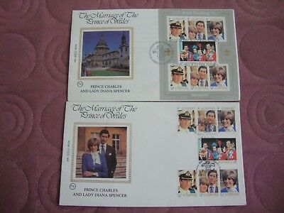 Royal Wedding 1981 prince Charles & Lady Diana Guernsey First Day Covers