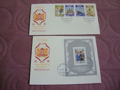 Royal Wedding 1981 Prince Charles & Lady Diana Kenya First Day Covers