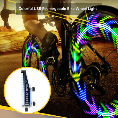 Bicycle Spoke Light 28 Patterns Colorful LED Bike Night Cycling Wheel Lamp CS543