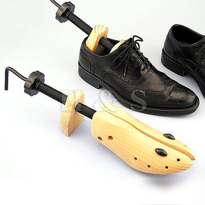 2x Top Quality Pine Wood Mens Boot Shoe Tree Stretcher Wooden Shaper Size 6-10