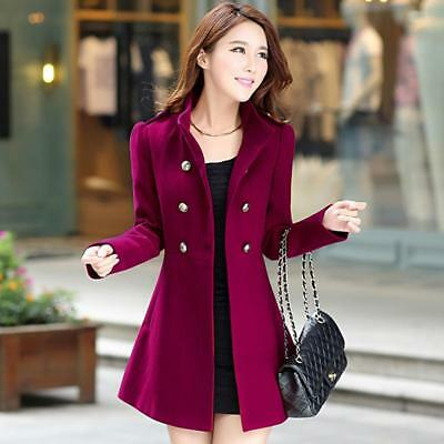 Fashion Women Winter Korean Long Coat Jacket Windbreaker Slim Outwear