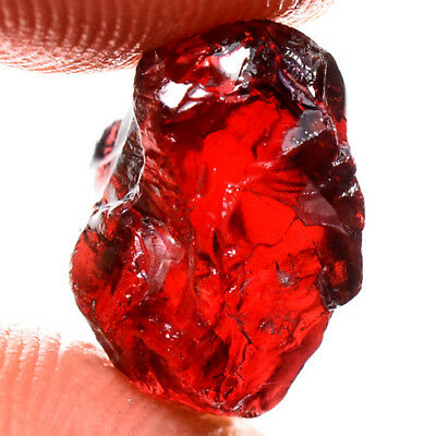 IF HIGH QUALITY 9.10ct NATURAL UNHEATED RED RHODOLITE GARNET ROUGH FACET NR!