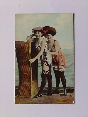 Early Glamour Postcard Erotic Swimwear Fashion Bathing Belles