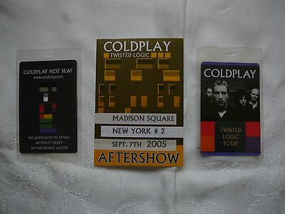 Coldplay Madison Square Garden Sept 7 2005 Satin Pass With Hot Seat Passes