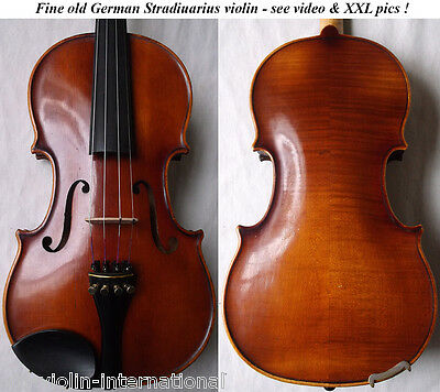 OLD GERMAN VIOLIN PFRETZSCHNER 1979 - video - ANTIQUE MASTER バイオリン скрипка 893