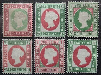 Heligoland Scott #  7-12, Mint
