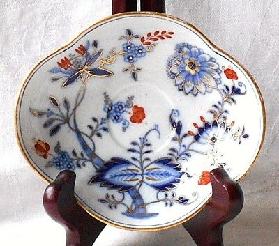 C19Th Meissen Hand Painted And Gilded Saucer