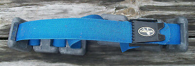Dacor Scuba Diving Weight Belt with 6 Lead Weights 18 Pounds Blue Nr