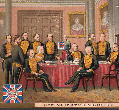 Queen Victoria Her Majesty's Ministry Huntley & Palmers Biscuit Advertising Card