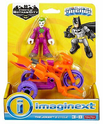 Fisher Price Imaginext DC Streets of Gotham - The Joker & Cycle - Brand New