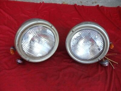 Vintage Signal Stat Headlights lamps 1932 Ford Rat Hot Rod Chevy 1934 1935 1936