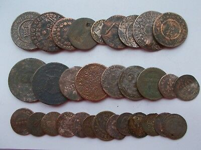 QTY 31 18/19th CENTURY TOKENS AND COINS (MIXED WORLD/UK)