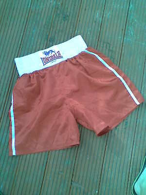 Lonsdale Satin red Boxing Shorts - Large mens size