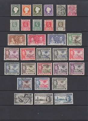 Gambia QV - KGVI collection, 31 stamps.