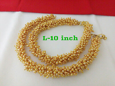 Indian Fashion Jewelry Anklet Bollywood Ethnic Gold Plated Traditional Anklet