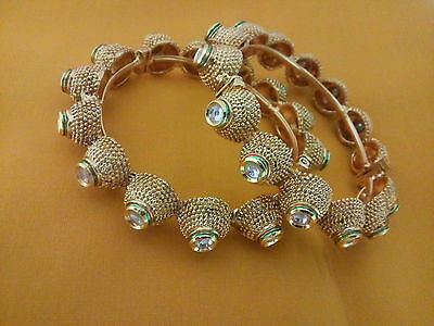 Indian Fashion Jewelry Bangle bollywood ethnic gold plated traditional kadas
