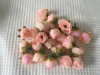 Set Of 25 Rose Buds Decorations. Can Be Used On Weddings Tables, Home Decor